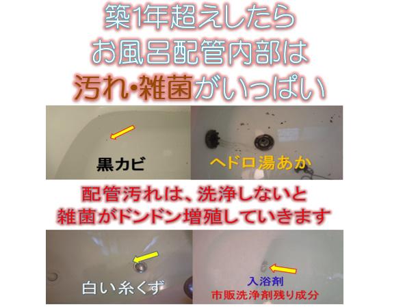 お風呂の配管清掃方法